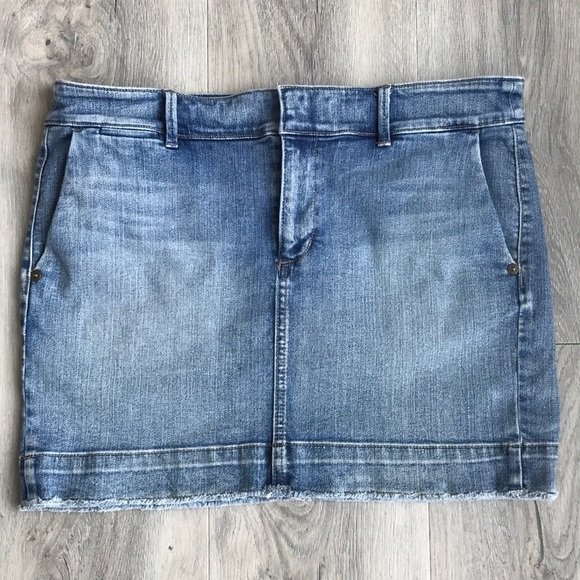 Loft Denim Mini Skirt